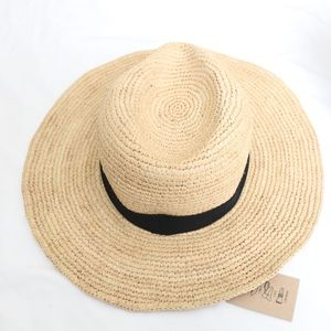 9aa87ccad512e J. Crew Accessories - J. Crew NWT Wide-Brim Packable Straw Hat